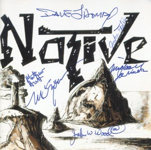 Native's self-titled first album as it appeared in 1994, with everyone's sigs!!